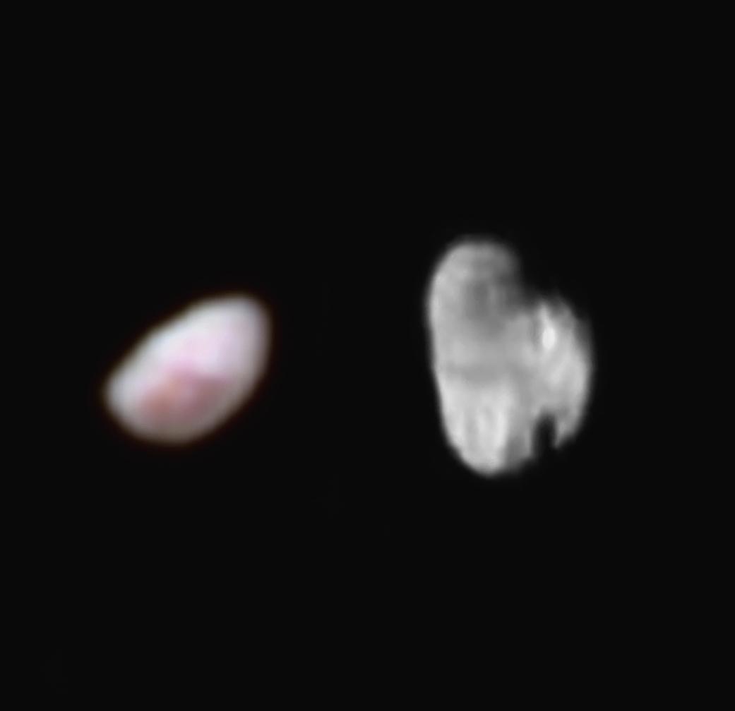 Δύο από τα μικρότερα φεγγάρια του Πλούτωνα