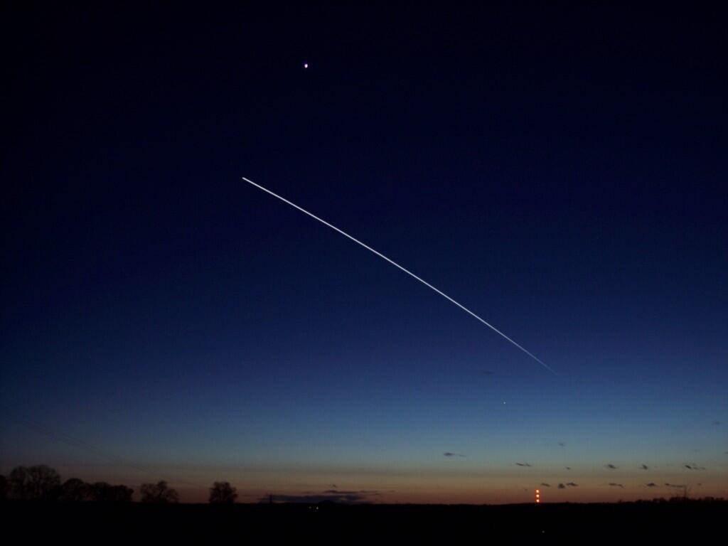 Ο Διαστημικός Σταθμός στο νυχτερινό ουρανό