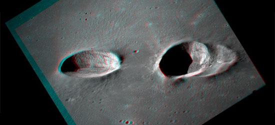 Οι Κρατήρες Messier σε 3D