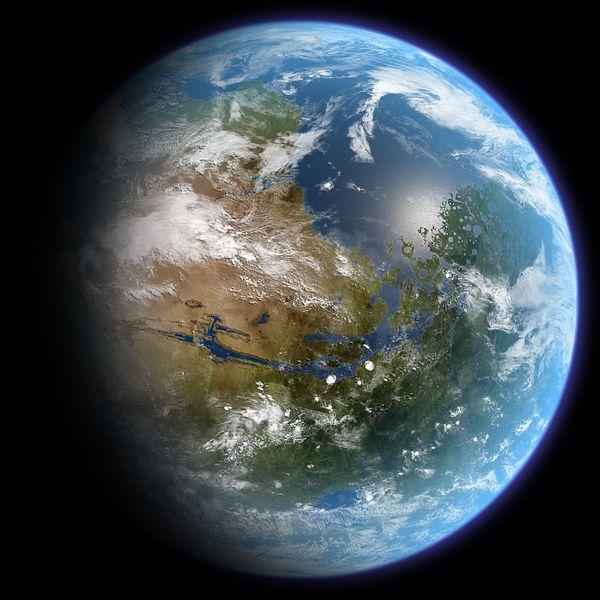Καλλιτεχνική απεικόνιση του γαιοποιημένου Άρη.