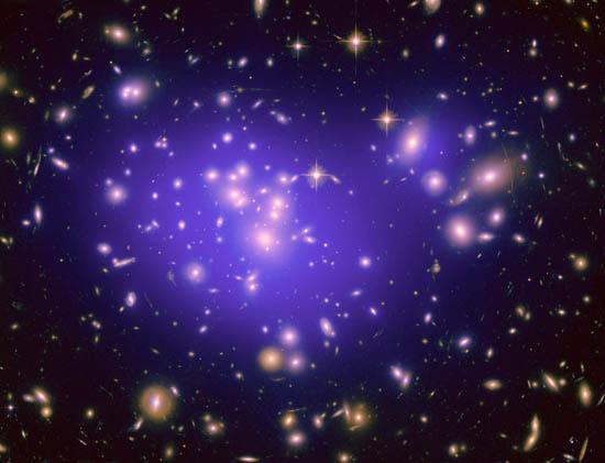 Γαλαξιακό Σμήνος Μεγεθύνει το Σκοτεινό Σύμπαν