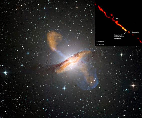 Αέρια από τον Ασυνήθιστο Γαλαξία Centaurus A