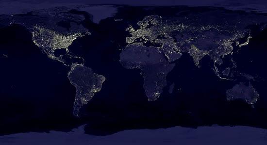 Η Γη τη Νύχτα