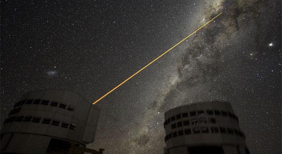 Μια Ακτίνα Laser Προσκρούει στο Γαλαξιακό Κέντρο