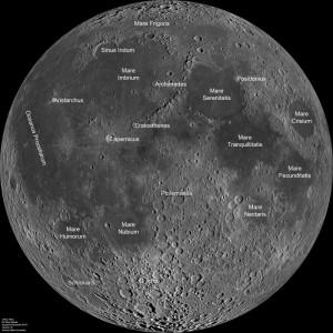 LRO Moon Map