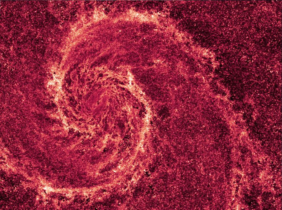 Ο Γαλαξίας Whirlpool σε Υπέρυθρη Σκόνη