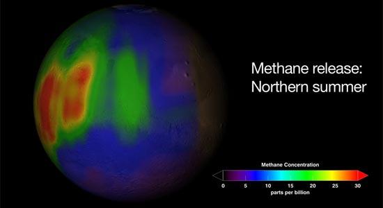 Μεθάνιο στην Ατμόσφαιρα του Άρη