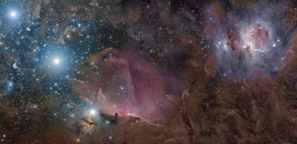 Ο Ωρίωνας σε Αέρια, Σκόνη, και Αστέρια