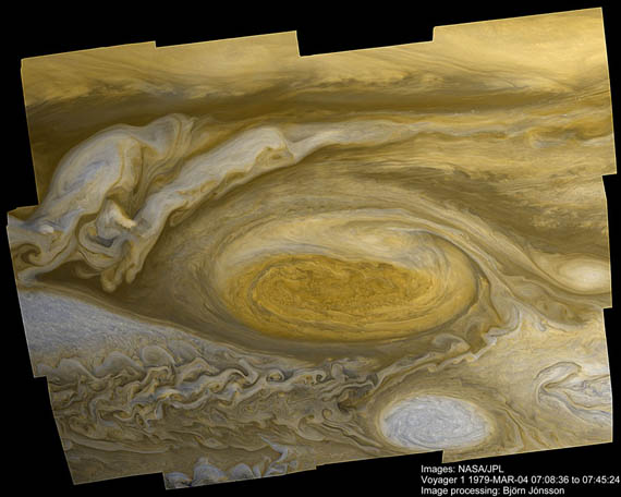 Η Μεγάλη Ερυθρά Κηλίδα του Δία από το Voyager 1