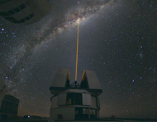 Λέιζερ Χτυπάει το Γαλαξιακό Κέντρο
